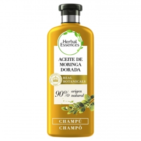 Champú Suave Aceite de moringa dorada renew ecológico Herbal Essences 400 ml.