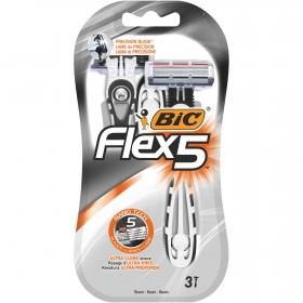 Maquinilla de afeitar desechable Flex 5 Bic 3 ud.