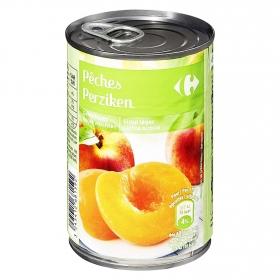 Melocotón en almíbar en mitades Carrefour 230 g.
