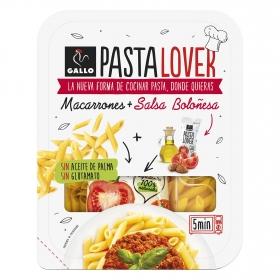 Macarrones + salsa boloñesa Pastalover Gallo 180 g.
