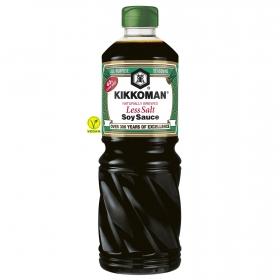 Salsa de soja baja en sal Kikkoman botella 1 l.