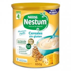 Papilla infantil desde 4 meses de cereales sin azúcar añadido Nestlé Nestum sin gluten y sin aceite de palma 650 g.