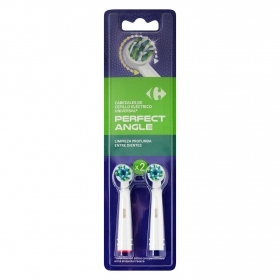Recambio universal cepillo dental eléctrico Perfect Angle Carrefour 2 ud.