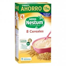 Papilla infantil desde 6 meses de 8 cereales integrales sin azúcar añadido Nestlé Nestum sin aceite de palma 1100 g.