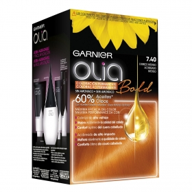 Tinte Bold 7.40 Cobrizo Intenso Garnier Olia 1 ud.