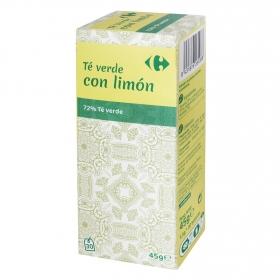 Té verde con limón en bolsitas Carrefour 30 ud.