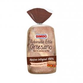Pan artesano integral con espelta y toque de miel Bimbo 550 g.