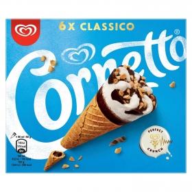 Conos con helado de nata Cornetto 6 ud.
