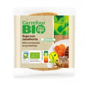 Hamburguesa vegetal de soja con zanahoria ecológica Carrefour Bio 160 g.