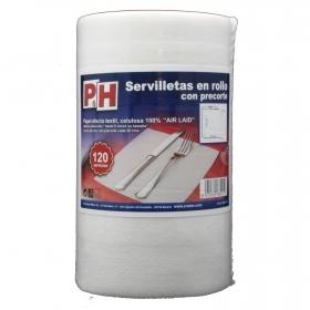 Rollo de Servilletas P&H 120 ud - Blanco