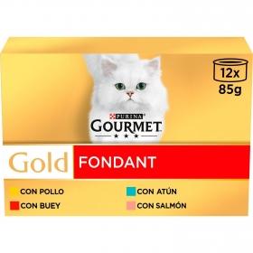 Purina Gourmet Gold Comida Húmeda para Gato Fondant Surtido 12x85g