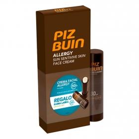 Crema facial solar SPF 50 + barra labial SPF 30 Piz Buin 50 ml.