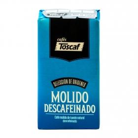 Café molido natural descafeinado Toscaf 250 g.