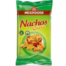 Nachos sabor queso Mexifoods 200 g.