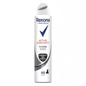 Desodorante en spray invisible Motion Sense Active protección+ anti-transpirant 0% alcohol Rexona 200 ml.