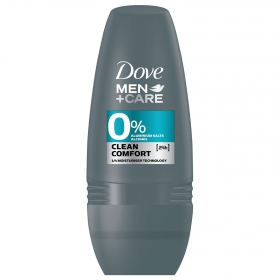 Desodorante roll-on clean confort Dove 50 ml.