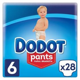 Pañales braguita Pants Dodot T6 (15+ kg) 28 ud.