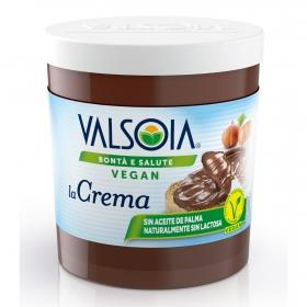 Crema de cacao con avellanas y soja Valsoia sin gluten 200 g.