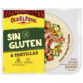 Tortillas mexicanas extra tiernas sin gluten Old El Paso pack de 6 unidades de 36 g.