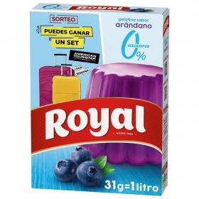 Gelatina sabor arándanos Royal 31 g.