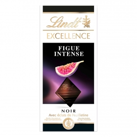 Chocolate negro intenso con higos Lindt Excellence 100 g.