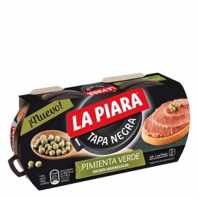 Paté de pimienta verde La Piara sin lactosa pack de 2 unidades de 75 g.