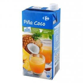Bebida de piña y coco Carrefour sin azúcar añadido brik 1 l.