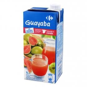 Bebida de guayaba Carrefour sin azúcar añadido brik 1 l.