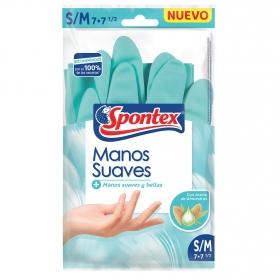 Guantes Manos Suaves SPONTEX S/M - Azul