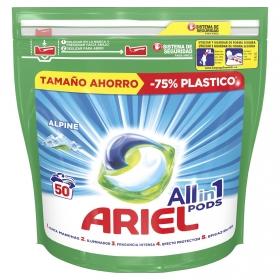 Detergente en cápsulas 3 en 1 Alpine Ariel 50 ud.