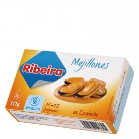 Mejillones en escabeche Ribeira sin gluten 69 g.