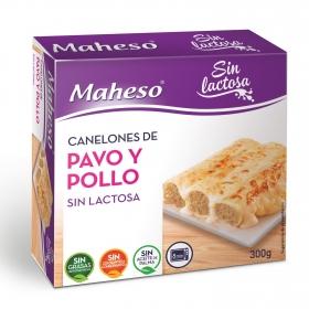Canelones de pavo y pollo sin lactosa Maheso 300 g.