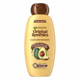 Champú antiencrespamiento con aceite de aguacate Original Remedies 600 ml.