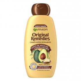 Champú antiencrespamiento con aceite de aguacate Original Remedies 300 ml.