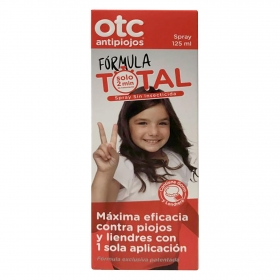 Otc antipiojos y liendres spray fórmula total con 1 sola aplicación Ferrer 155 ml.