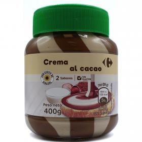 Crema de cacao y leche con avellanas Carrefour 400 g.