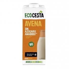 Bebida de avena con calcio sin azúcar añadido ecológica Ecocesta brik 1 l.