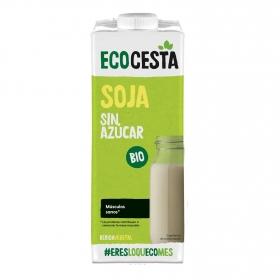 Bebida de soja ecológica sin azúcar añadido Ecocesta sin gluten brik 1 l.