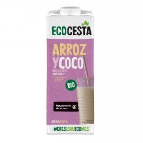 Bebida de arroz y coco sin azúcares añadidos ecológica Ecocesta  sin gluten brik 1 l.