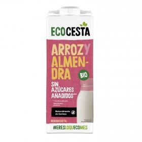 Bebida de arroz y almendras con calcio sin azúcar añadido ecológica Ecocesta brik 1 l.