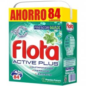 Detergente en polvo Active plus Flota 84 lavados