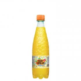 Agua mineral Vichy Catalán natural con gas con zumo de naranja botella 50 cl.
