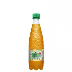 Agua mineral Vichy Catalán natural con gas con zumo de manzana botella 50 cl.