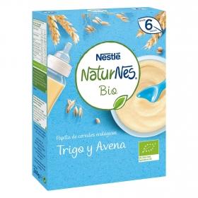 Papilla infantil desde 6 meses de trigo y avena ecológica Nestlé Naturnes 240 g.