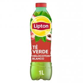Refresco de té verde Lipton sabor melocotón botella 1 l.