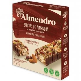 Barritas de almendras con chocolate con leche El Almendro sin gluten 100 g.