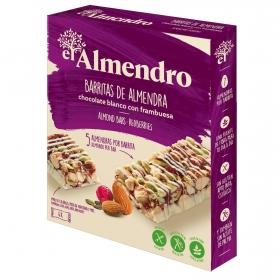 Barritas de almendras con chocolate blanco y frutos rojos El Almendro sin gluten 100 g.