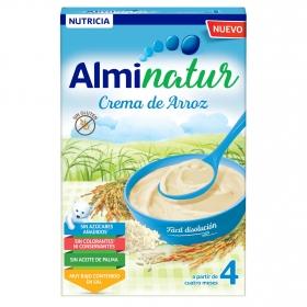 Papilla infantil desde 4 meses de arroz sin azúcar añadido Alminatur sin gluten y sin aceite de palma 250 g.