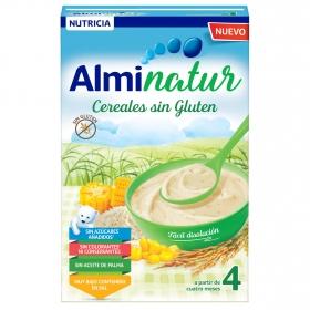 Papilla infantil desde 4 meses de cereales sin azúcar añadido Alminatur sin gluten y sin aceite de palma 250 g.