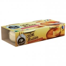 Crema catalana Carrefour pack de 2 unidades de 100g.